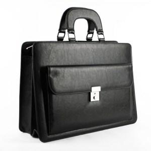Бизнес чанта българска с две отделения модел номер 25006 черна