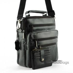 Мъжка чанта от естествена кожа 20318