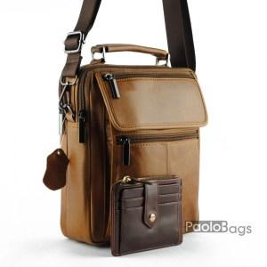 Мъжка чанта от естествена кожа 20319