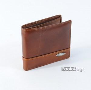 Мъжки портфейл от естествена кожа кафяв 20397