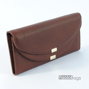 Кафяво дамско портмоне от естествена кожа 20417-1