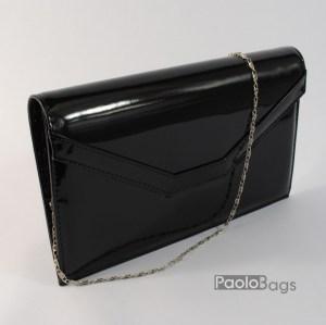 d975d785b65 Дамска чанта тип клъч плик вечерна официална черна абитуриентска