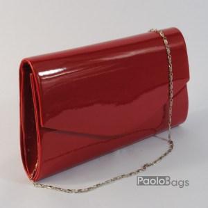 Дамска чанта тип клъч плик вечерна официална червена абитуриентска