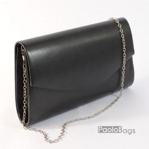 Дамска чанта тип клъч плик вечерна официална черна абитуриентска