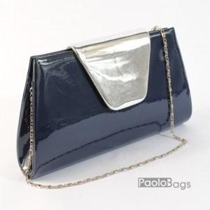0ffcd71bc04 Дамска чанта тип клъч плик вечерна официална синя абитуриентска
