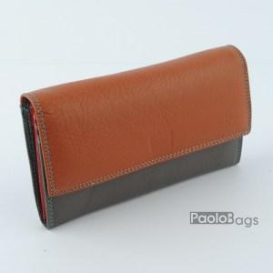 Дамско портмоне шарено с пастелни цветове 21617