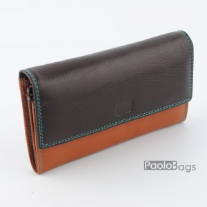 Дамско портмоне шарено с пастелни цветове 21618