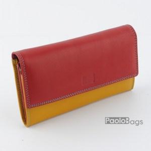 Дамско портмоне шарено с пастелни цветове 21619