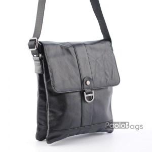 07cbe9f72b0 Мъжка чанта от естествена кожа компактен модел с две отделения височина  24см.