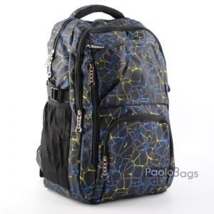 Синя ученическа раница в пастелни цветове 216312