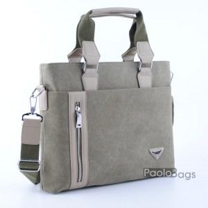 Бизнес мъжка чанта от плат 21628