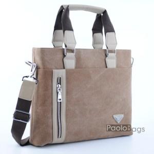 Бизнес мъжка чанта от плат 21629