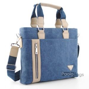 Бизнес мъжка чанта от плат 21630