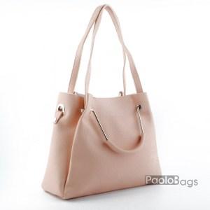 Дамска чанта с комбинирани дръжки 21664