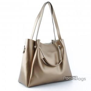 Дамска чанта с комбинирани дръжки 21665