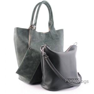Дамска чанта 2в1 всекидневна практична 21669