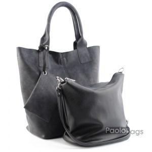 Дамска чанта 2в1 всекидневна практична 21670