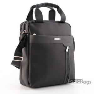 Мъжка чанта от плат голяма здрава материя за през рамо 23023