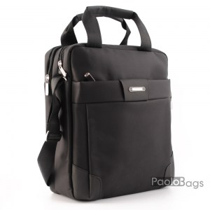 Мъжка чанта от плат голяма здрава материя за през рамо 23024