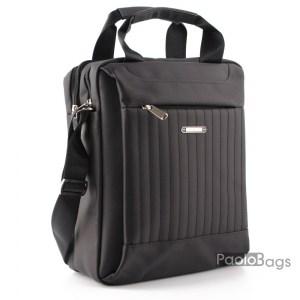Мъжка чанта от плат голяма здрава материя за през рамо 23025