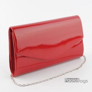 Дамска чанта тип клъч плик вечерна официална черна абитуриентска червена