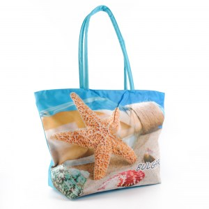 Плажна чанта евтина с цип и круизен и морска звезда 22744