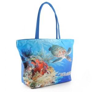 Плажна чанта евтина с цип и круизен и костенурка 22743