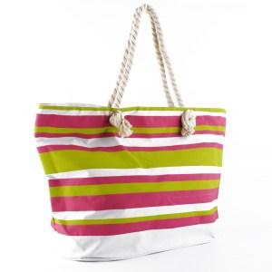 Плажна чанта голяма на цветни райета 23020