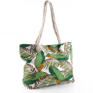 Плажна чанта зелена с светя 23037