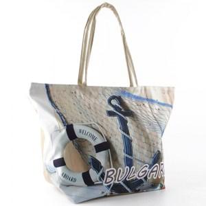 Плажна чанта евтина с картинка котва 23042