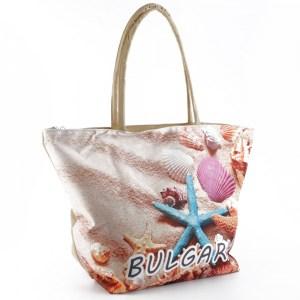 Плажна чанта евтина с картинка морска звезда 23044