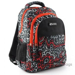 Черна ученическа раница евтина за момичета и момичета с ортопедичен гръб с пастелни цветове
