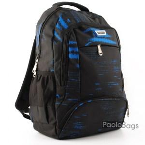 Ученическа раница евтина тъмна със синъо