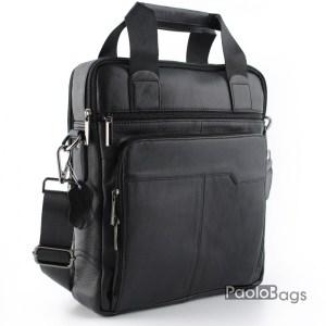 Мъжка бизнес чанта от естествена кожа 17563
