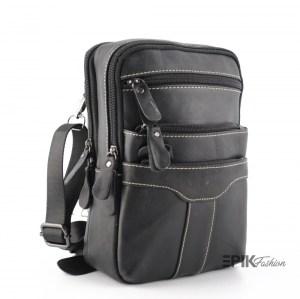 Луксозна мъжка чанта от естествена кожа 20230-1