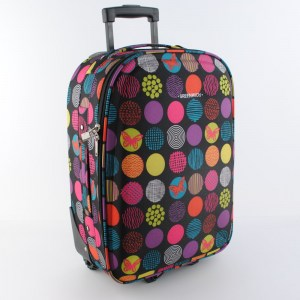 Куфар за ръчен багаж 55 40 20 с цветни точки