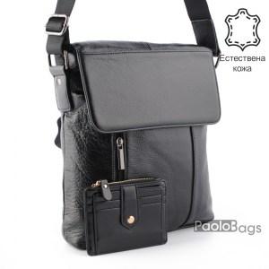 Луксозна мъжка чанта от естествена кожа 23501
