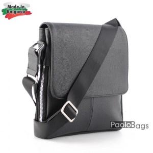 Луксозна мъжка чанта българска за през рамо 25007