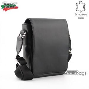 Луксозна мъжка чанта от естествена кожа българска за през рамо 25008