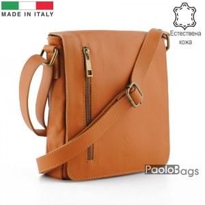 Луксозна мъжка чанта от естествена кожа италианска за през рамо 25009