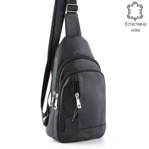 Мъжка чанта от естествена кожа тип банан за гръб или на гърди 25014