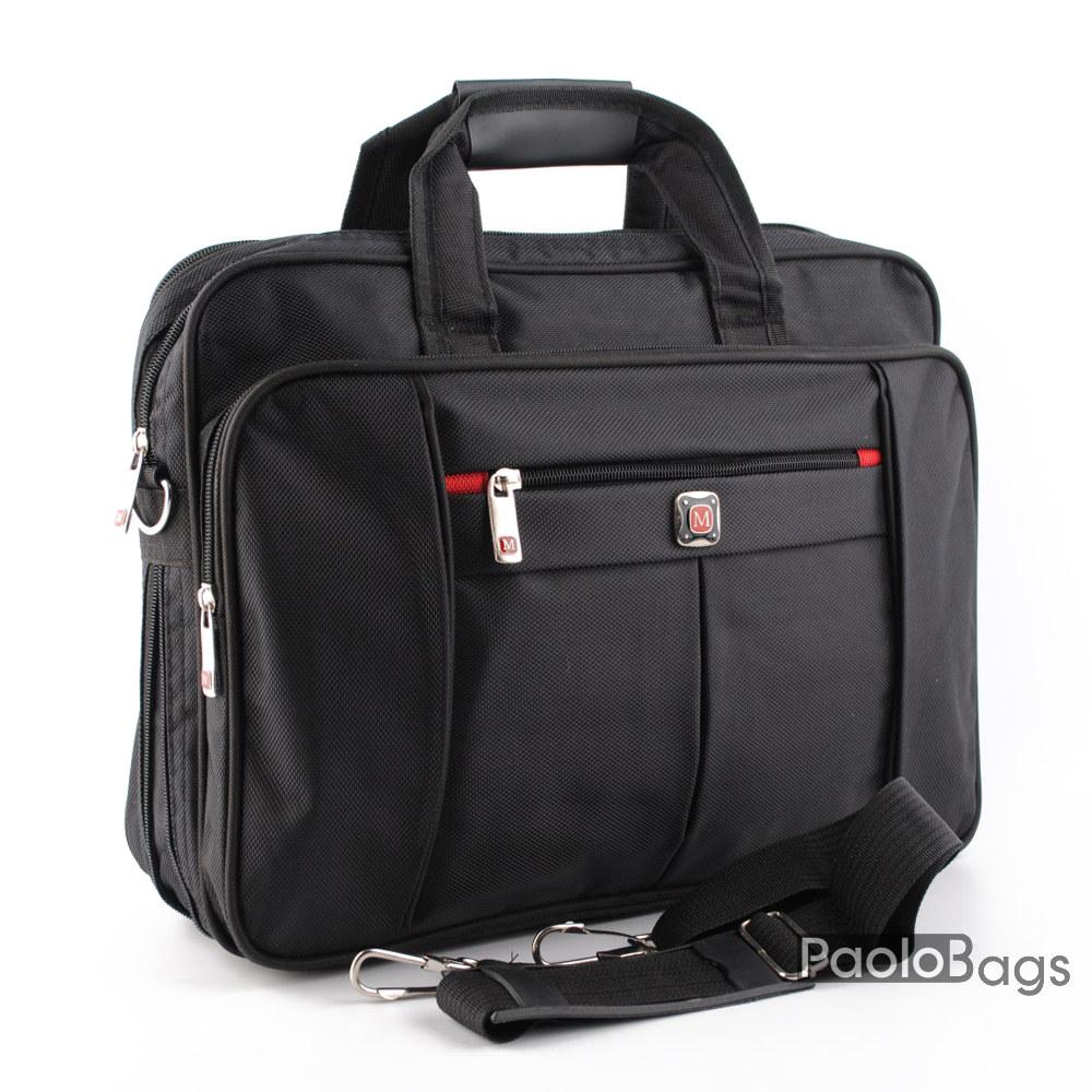 Мъжка бизнес чанта евтина със спомагателни джобове