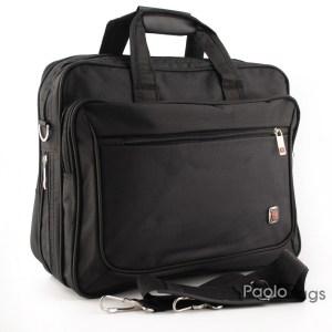 Мъжка чанта от плат голяма здрава материя за през рамо 23023-1