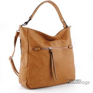 Кафява чанта тип торба 1799311