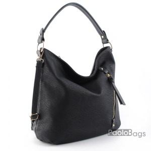 Черна дамска чанта тип торба 1853211