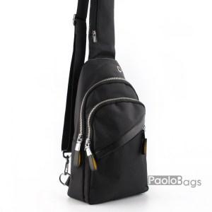 Мъжка чанта за носене на гръб или гърди тип раница с ляво и дясно носене през рамо 25210