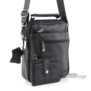 Мъжка чанта от естествена кожа телешки бокс 20459