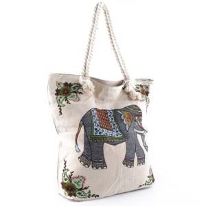 Плажна чанта евтина със затваряне с цип 26073