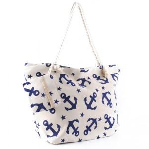 Плажна чанта голяма със затваряне с цип 26079