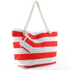 Плажна чанта голяма със затваряне с цип 26077
